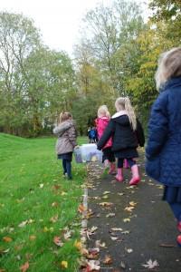 Walking in autumn
