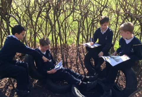 Outside learning in the glorious Spring weather