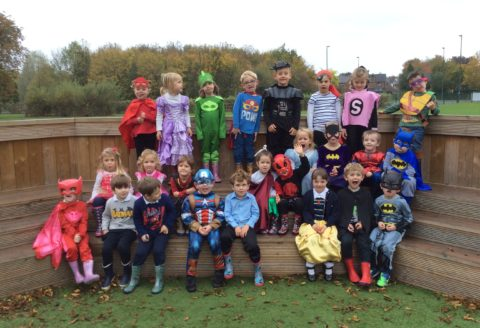 Reception Superhero day